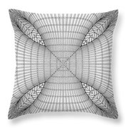 Abstract Structural Construction Throw Pillow