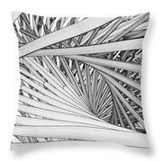 Abstract Urban City Building In Chaos Throw Pillow