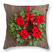 Advent Wreath With Winter Rose Throw Pillow