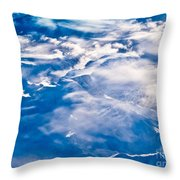 Aerial View Of Snowcapped Peaks In Bc Canada Throw Pillow