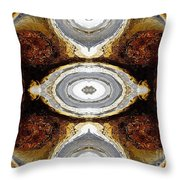 African Moon Abstract Throw Pillow