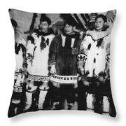 Alaska Eskimos, C1916 Throw Pillow