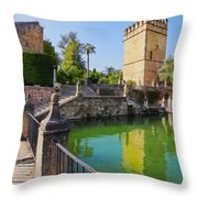 Alcazar In Cordoba Throw Pillow