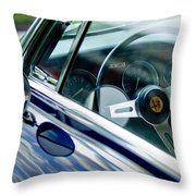 Alfa Romeo Steering Wheel Throw Pillow