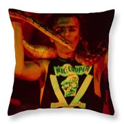 Alice Cooper At The Concord Pavillion Throw Pillow