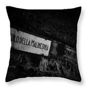 Alley Of Melancholy. Iseo Throw Pillow