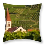 Alsace Church Throw Pillow