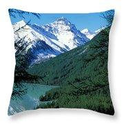 Altai Mountains Throw Pillow by Anonymous