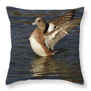 American Widgeon Throw Pillow