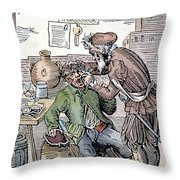 Amman: Dentist, 1568 Throw Pillow