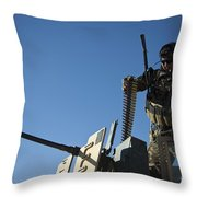 An Afghan National Army Soldier Throw Pillow