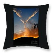 Angel Wings In The Sky Throw Pillow