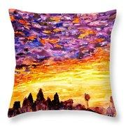 Angkor Sunrise Throw Pillow