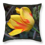 Tulip In The Wind Throw Pillow