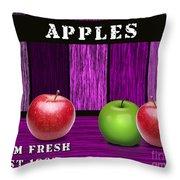 Apple Farm Throw Pillow