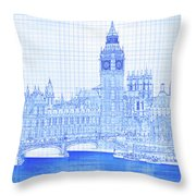 Arch Bridge Across A River, Westminster Throw Pillow
