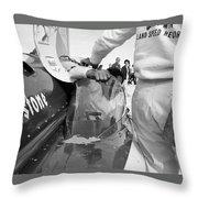 Art Arfons In Tight Squeeze Throw Pillow