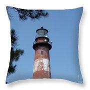 Assateague Lighthouse Throw Pillow