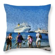At The Old City Of Rhodes Throw Pillow