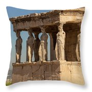 Athens, Attica, Greece. Porch Throw Pillow