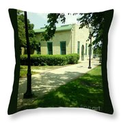 Aurora Transportation Center Throw Pillow