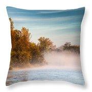 Autumn Morning Throw Pillow