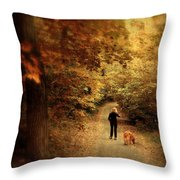 Autumn Stroll Throw Pillow by Jessica Jenney
