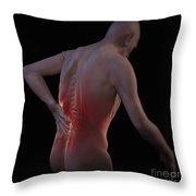Back Pain Throw Pillow