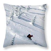 Backcountry Ski Traverse In Glacier Throw Pillow