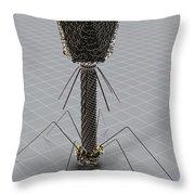 Bacteriophage Throw Pillow