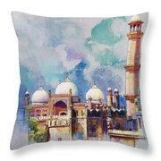 Badshahi Mosque Throw Pillow