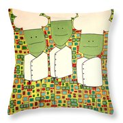 3 Bakers Throw Pillow