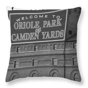 Baltimore Orioles Park At Camden Yards Throw Pillow