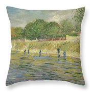 Bank Of The Seine Throw Pillow