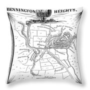 Battle Of Saratoga, 1777 Throw Pillow