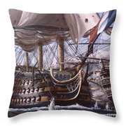 Battle Of Trafalgar Throw Pillow