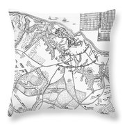 Battle Of Yorktown, 1781 Throw Pillow