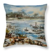 Bay Scene Throw Pillow