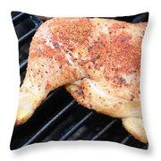 Bbq Chicken Throw Pillow