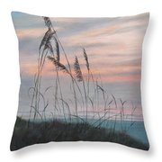 Beach Morning View Throw Pillow
