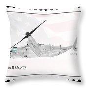 Bell Boeing Mv-22b Osprey Throw Pillow
