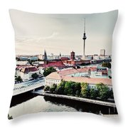 Berlin Germany View On Major Landmarks Throw Pillow