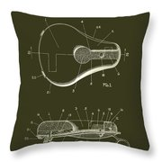 Bicycle And Motorcycle Seat 1925 Patent Throw Pillow