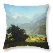 Bierstadt's Lake Lucerne Throw Pillow