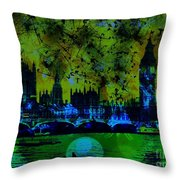 Big Ben On The River Thames Throw Pillow