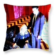 Black Lodge Throw Pillow by Luis Ludzska
