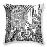 Blacksmith, C1250 Throw Pillow