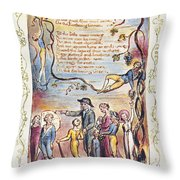 Blake: Songs Of Innocence Throw Pillow