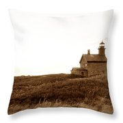 Block Island North Lighthouse Throw Pillow