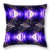 Blue Poppy Fish Abstract Throw Pillow